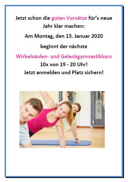 Neue Kurse ab Januar